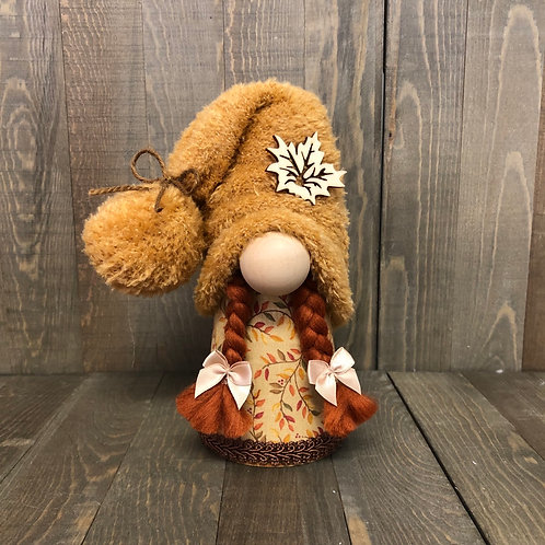 Maple Leaf Girl Gnome