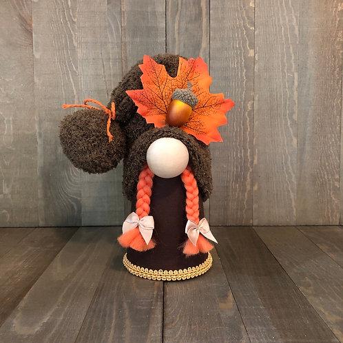 Fall Leaf Girl Gnome