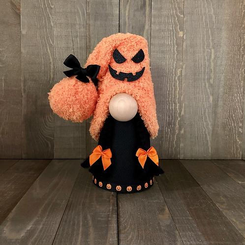 Jac-O-Lantern Girl Gnome