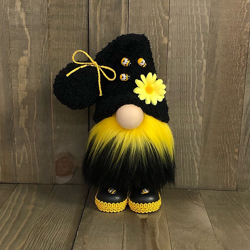 Black/Gold Bee with Boots Gnome
