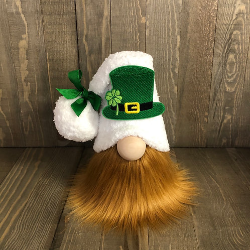 St. Patrick's White Tiered Tray Gnome