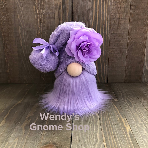Purple Flower Tiered Tray Gnome
