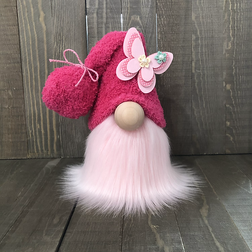 Hot Pink Butterfly Gnome