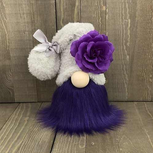 Dark Purple Flower Tiered Tray Gnome