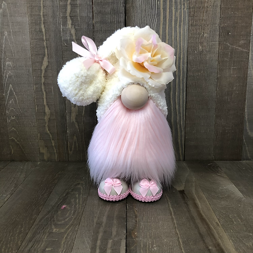Pink Flower Valentines Gnome