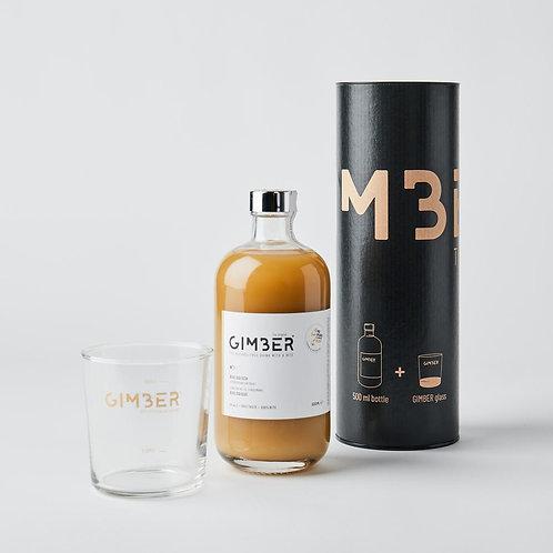 GIMBER GIFT TIN 500ml + glas