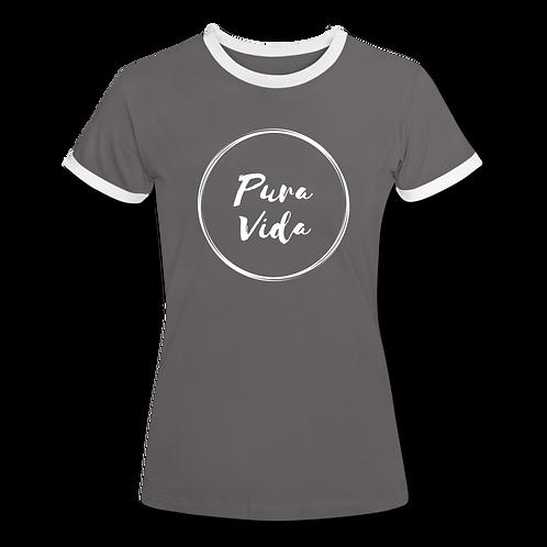 Dames shirt Bicolor Pura Vida logo