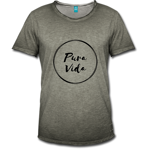 Heren shirt Vintage Pura Vida logo