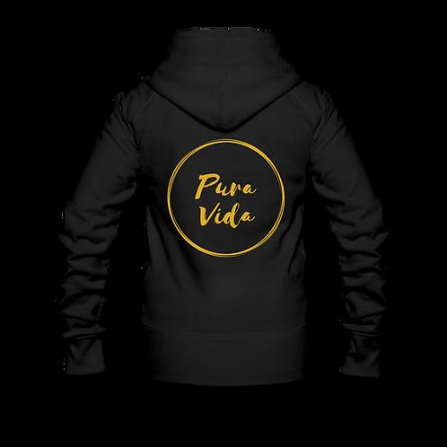 Dames vest met rits (Pura Vida logo achteraan)