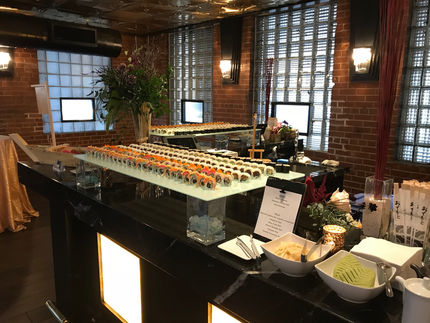 Sushi for weddings
