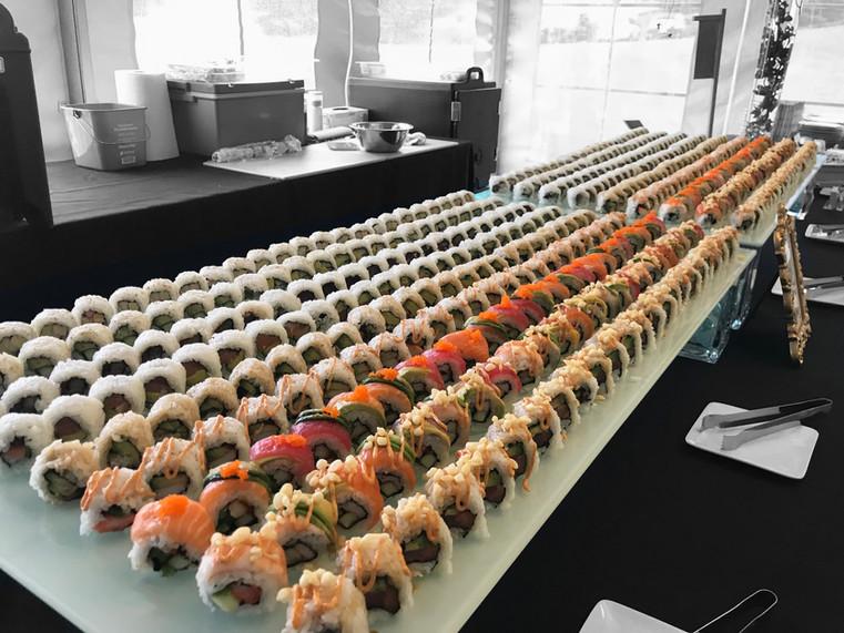 Sushi rolls and rolls