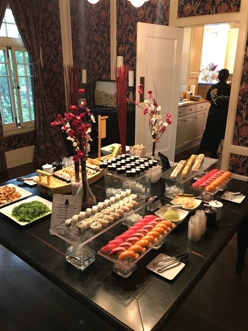 Sushi catering at your home