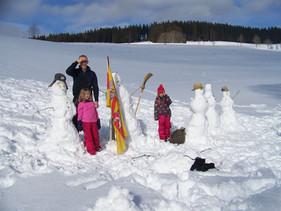 Schneemann bauen :-)