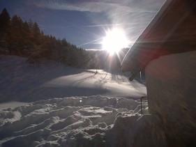 Über einen Meter Schnee in Waldau