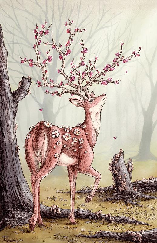 plum blossom deer.jpg