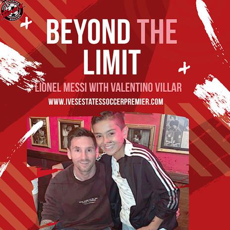 Messi junto a nuestro capitan de la u13 Valentino Villar. Nuestro querido alumno complio el sueño de conocer a su idolo y flamanante campeon de America.