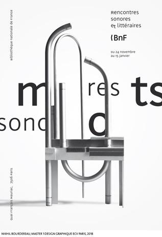 A partir d'un trombone à papier...  Nikhil Bourdereau, Master 1 Design Graphique, ECV Paris, 2018