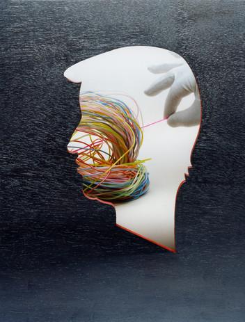 """Le Monde Magazine """"Les différentes vies d'internet"""" 2/5  Composition photographique en studio (2007)"""