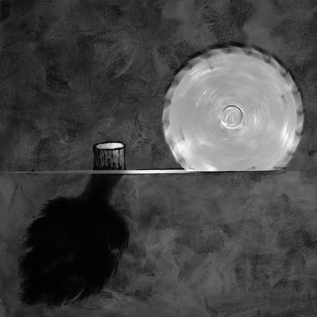 Le soleil noir  de la mélancholie  Composition photographique en studio
