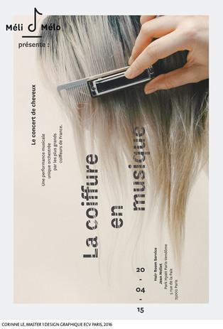 A partir d'un peigne...  Corinne Le, Master 1 Design Graphique, ECV Paris, 2016