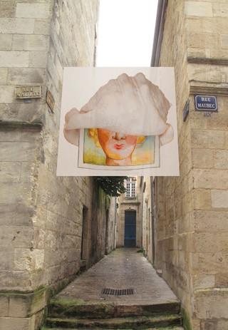 """Agora Bordeaux 2014, biennale du design,  de l'urbanisme et de l'architecture  """"Les impasses sont le lieu  de mes plus belles inspirations""""(Milan Kundera)  Installations thématiques  dans huit impasses du centre-ville.  Composition photographique en studio. 1/8"""