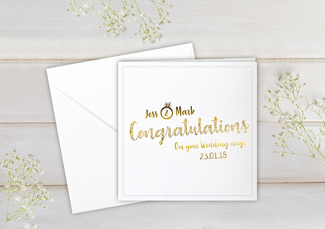 Personalised - Dotted Congratulations