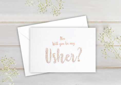 Will you be my Usher - postcard