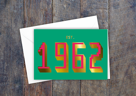Personalised - EST. Date - Green