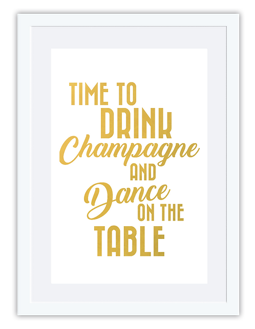 Time to drink champagne...