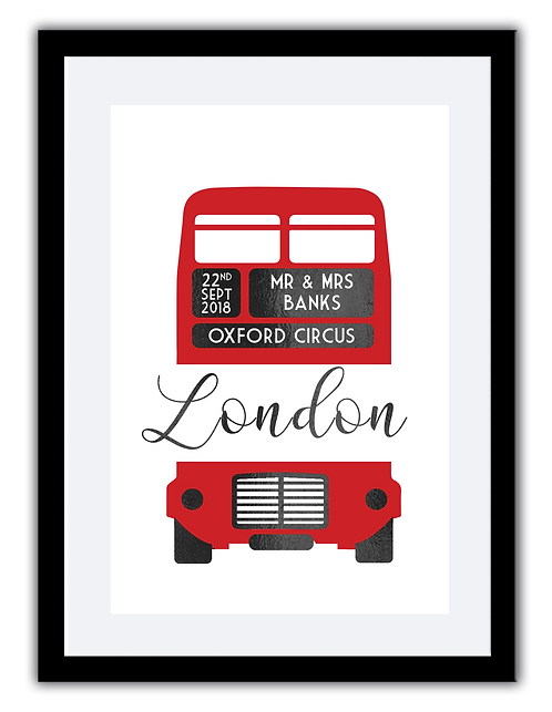 Wedding print - London Bus