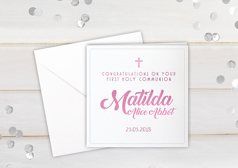 First Holy Communion - personalised