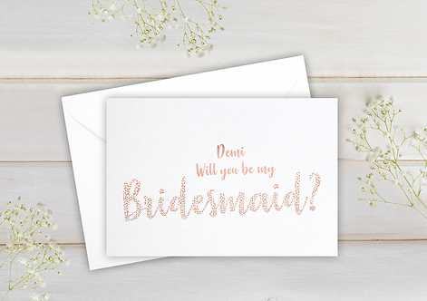 Will you be my Bridesmaid - postcard