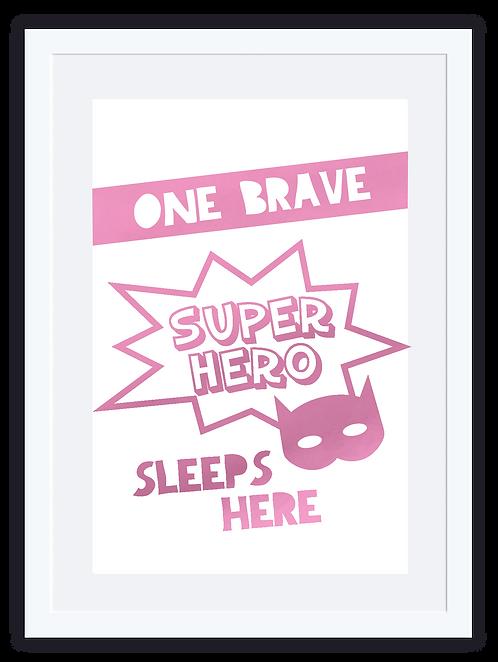 Superhero sleeps here