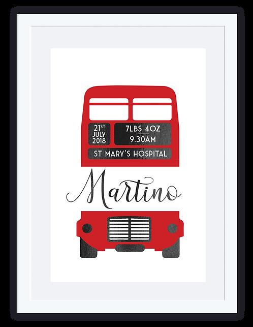 Baby Print London Bus