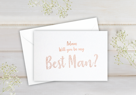 Will you be my Best Man - postcard