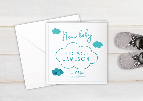 Personalised - Cloud - New Baby