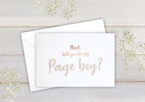 Will you be my Page boy - postcard