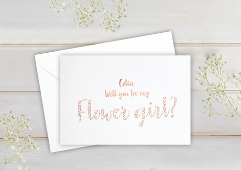 Will you be my Flower girl - postcard