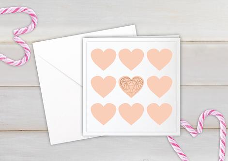 Mini Hearts Geo - pink