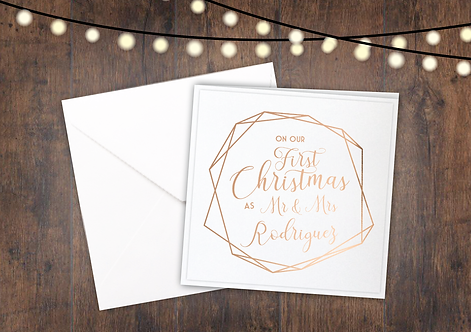 Personalised - Mr & Mrs First Christmas - Geo