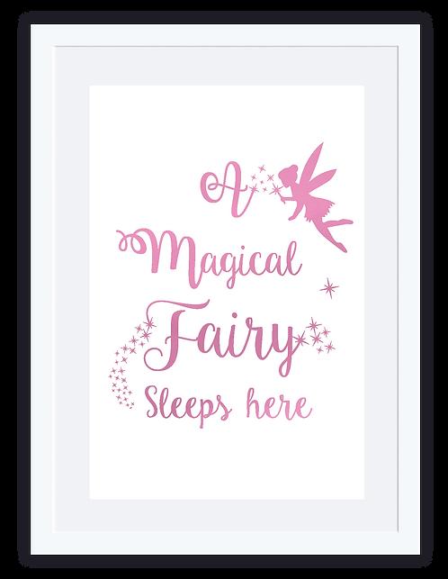 Fairy sleeps here
