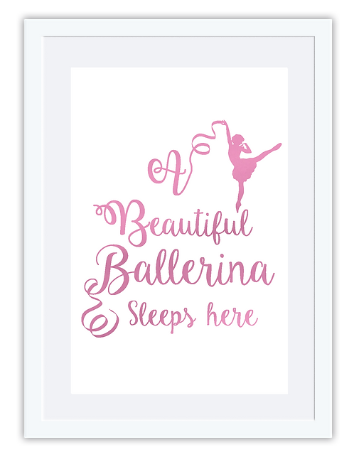 Ballerina sleeps here
