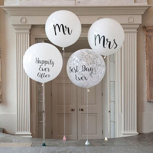 """36"""" MR & MRS Balloon Set"""