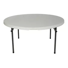 "60"" Round Table W/ Folding Legs"