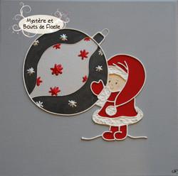 Père Noël et boule de Noël