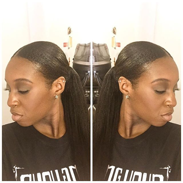 Client selfie😜😜 #ponytail #sleek #naturalhair #linaturalhairstudio #beauty #naturalsrock #baldwins