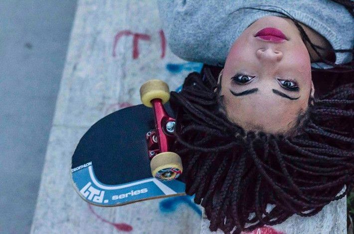 WHAT A  DAY FOR SOME BOX BRAIDS & A SKATEBOARD..........