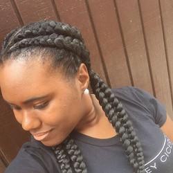 #protectivestyles #goddessbraids #braids #frenchbraids #naturalbeauty #naturalhair #shecute😍 #anano
