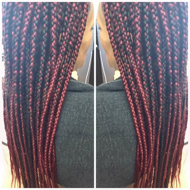 #box braids ❤️❤️❤️10 packs of Q brand done in 2hours👌🏾👌🏾#braider #linaturalhairstudio #studio91n