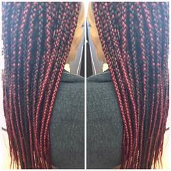 #box braids ❤️❤️❤️10 packs of Q brand done in 2hours👌🏾👌🏾#braider #linaturalhairstudio #studio91n